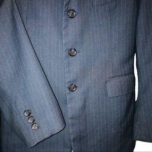 Calvin Klein BOYS Navy Pinstripe Blazer- 12R